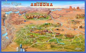 travel map of arizona map tourist attractions map travel