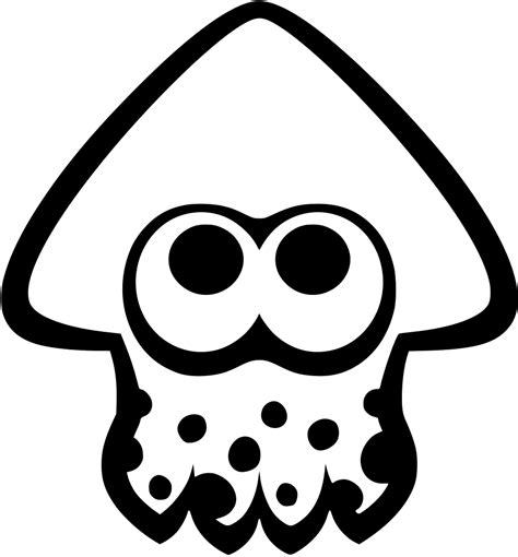 File Squid Icon Splatoon Svg Wikimedia Commons General Jumping Coloring Books