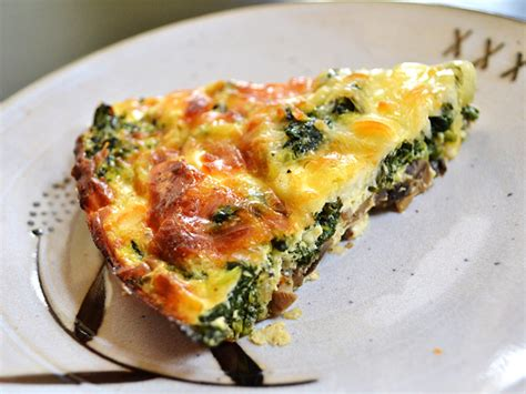 kneady business spinach mushroom cottage cheese quiche