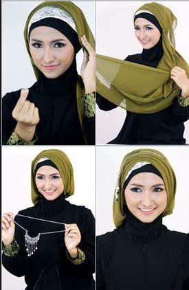 tutorial gambar hijab pesta tutorial hijab modern untuk pesta