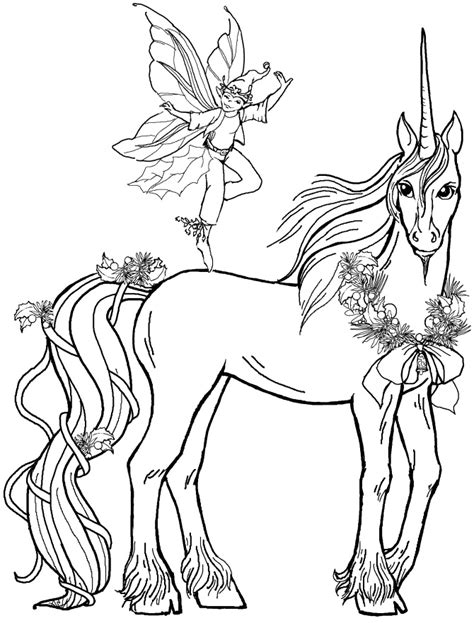 fairy unicorn coloring page pictures fairy boy with unicorn coloring pages unicorn