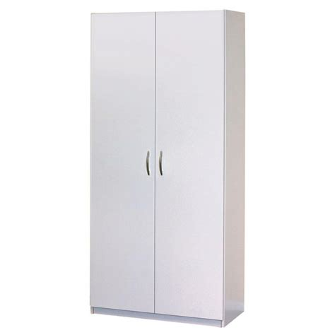 Storage Closet With Doors Closetmaid 30 In 2 Door Wardrobe Cabinet 12298 The Home Depot