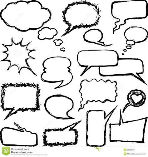 free doodle speech vector speech doodles stock photo image 25194200