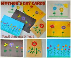 Mother s day cards pencil shavings flowers kids play box
