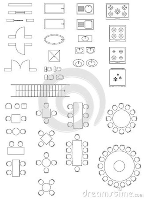 standard symbols   architecture plans stock images