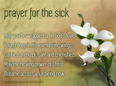 comfort words for sick person prayer for healing the sick inspirational quotes
