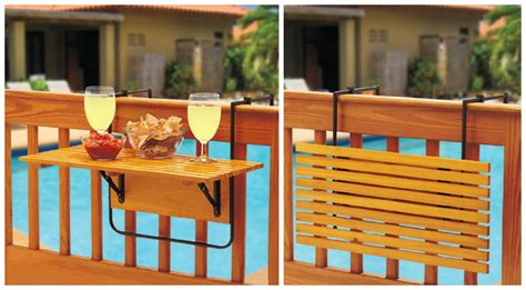 Balcony Railing Table by Space Saving Table For Small Balconies Home Designing