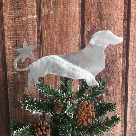 dachshund weiner dog dog christmas tree topper holiday