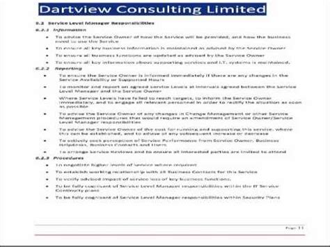 itil service level agreement template itil service level agreement template itil service level