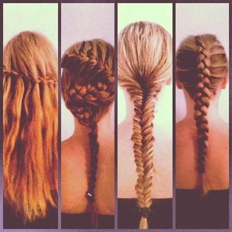 all kinds of hair style that have braides types of braids hairstyles for long hair pinterest