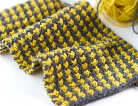 knitting pattern houndstooth scarf pin by marilyn holdaway on knitting pinterest