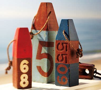 Nautical Themed Giveaways - distressed wood buoys 8 nautical theme home d 233 cor items