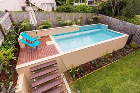 Backyard Small Above Ground Swimming Pool Eye Catching Swimming Pools For Backyards