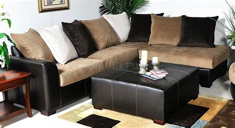multi tone fabric modern sectional sofa w optional items