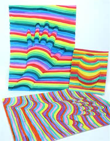 art projects fun op art project for kids the frugal crafter blog
