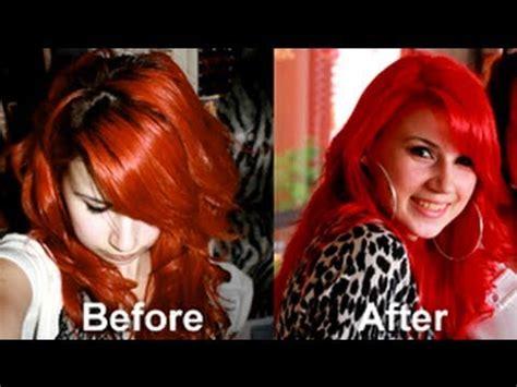 Bright Red Hair Tutorial   bright red hair no pre bleaching tutorial using
