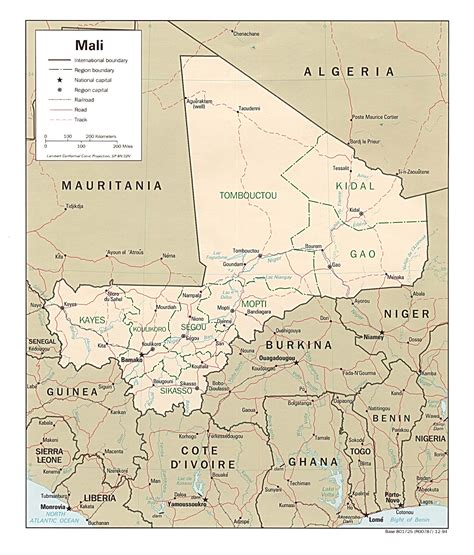 political map of mali mali maps perry casta 241 eda map collection ut library