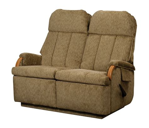 Wall Hugger Reclining Loveseat by Lambright Relaxor Loveseat Recliner Glastop Inc