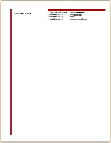 Ms Word Business Letterhead Templates Document Templates Business Letterhead Template Word