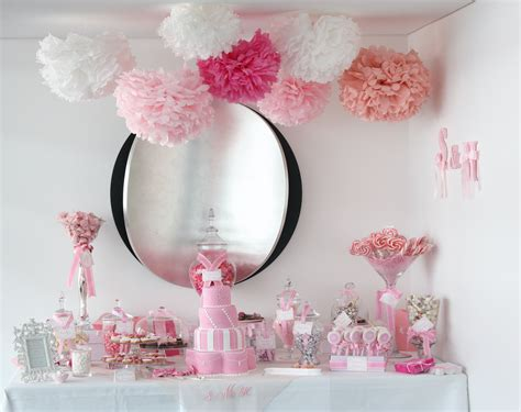 sugarcoated pink and white buffet the sweetest