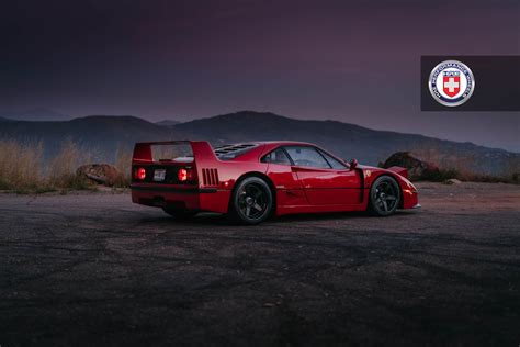 ferrari f40 wheels ferrari f40 with satin black hre wheels gtspirit