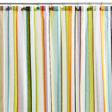 Stripped Shower Curtains Striped Shower Curtain Casual Cottage