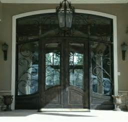 Front Doors With Wrought Iron Beautiful Wrought Iron Front Door Home