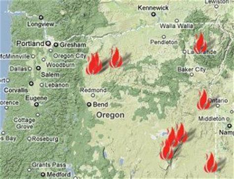fires oregon map oregon department of forestry daily update for friday