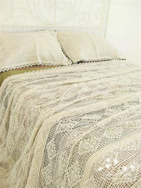 lace coverlet bedding 100 cotton handmade crochet bedspread with pillowcases