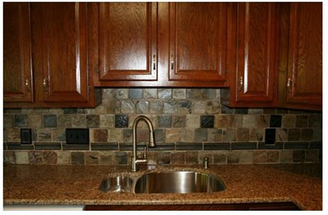 Rustic Backsplash For Kitchen H Winter Showroom Rustic Indian Autumn Slate Adds Drama To Kitchen Backpslash