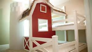 Barn With Loft homemade farm barn triple bunk bed diy youtube