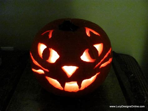 simple pumpkin faces cat pumpkin and easy carving with rotozip