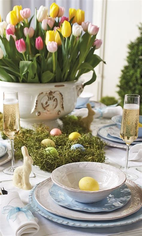 easter table setting ideas   festive atmosphere