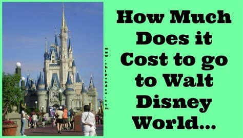 how much does it cost to chip a how much does it cost to go to walt disney world