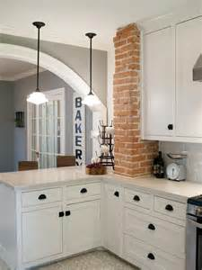25 best ideas about exposed brick kitchen on pinterest modern furniture traditional kitchen with brick walls