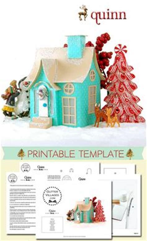 printable christmas village template 1000 images about christmas village printable templates