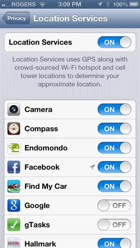 enable location services  iphone ios