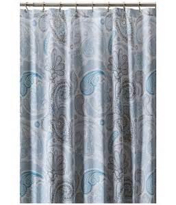 kassatex paisley shower curtain blue grey shipped