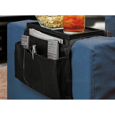 Arm Rest Organizer Sofa Edge Hang Bags as seen on tv 6 pocket arm rest organizer with table top black 11street malaysia office