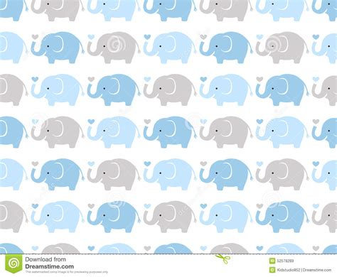 cute cartoon pattern seamless cute elephant pattern stock vector illustration
