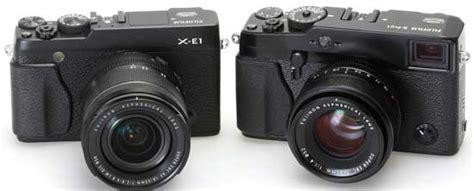 Kamera Fujifilm Kecil fujifilm x e1 kamera mirrorless keren bergaya retro