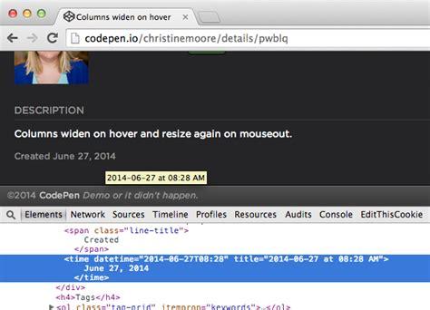 format date css html5 juni 2014