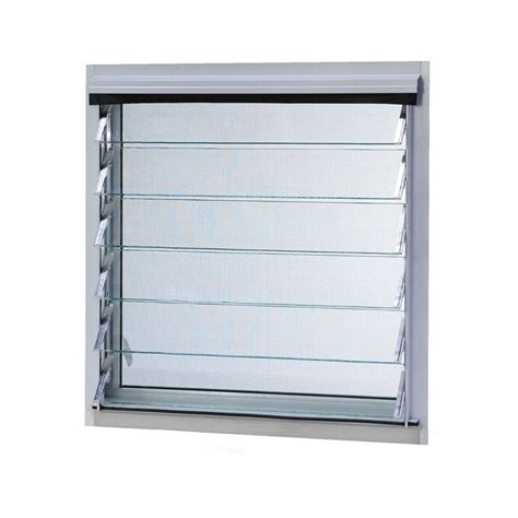 jalousie metall tafco windows 12 in x 24 375 in jalousie utility louver