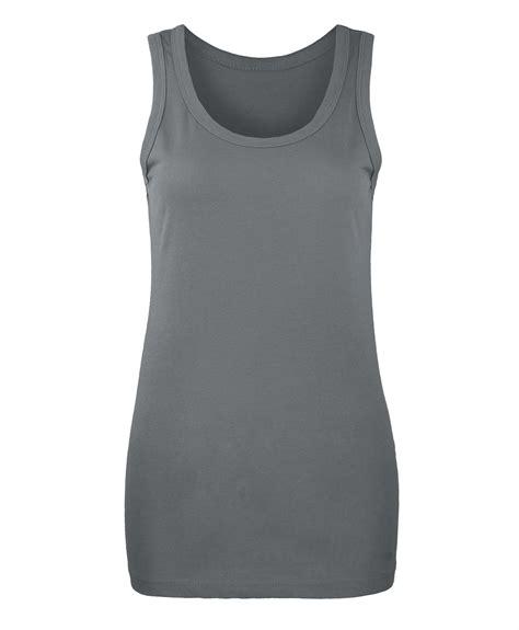Confidence Basic Xl 3 slim fit plain vest top womens basic cotton t shirt