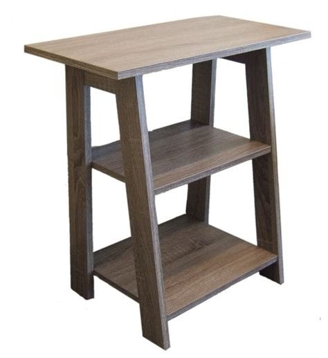 Farmhouse Side Table by Ladder Chairside End Table Rustic Gray Farmhouse Side