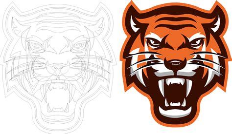 Logo Macan tutorial coreldraw cara membuat logo harimau keren abis guru corel