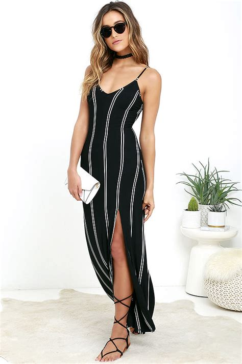 Maxy Stripe chic black dress striped dress maxi dress 64 00