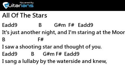 ed sheeran all of the stars chords ed sheeran all of the stars 結他譜 chord譜 曲 ed sheeran