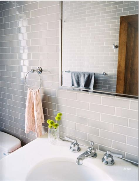 gray subway tile bathroom this for vanity wall and shower wall grey subway