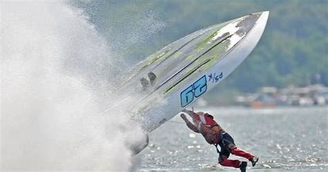speed boat surfing oh no you don t bad ass boat crashes pinterest